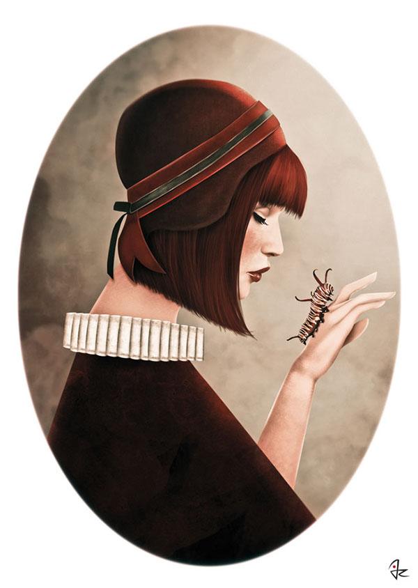 vintage inspired art feminine