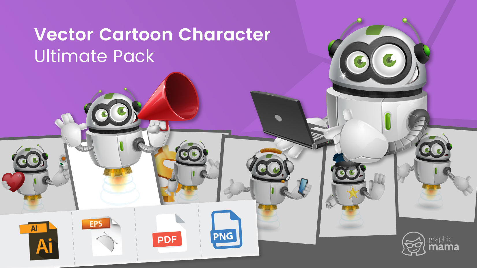 Vector Cartoon Character Ultimate Pack by GraphicMama: from A to Z