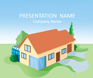 50 free cartoon powerpoint templates with characters illustrations house illustration powerpoint template toneelgroepblik Choice Image