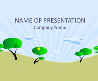 Cartoon Trees PowerPoint Template