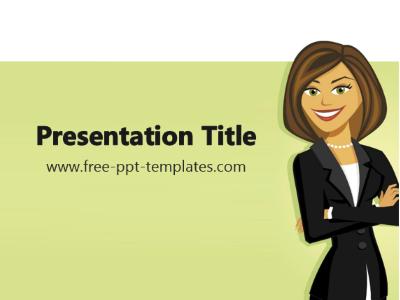 business-woman-ppt-template
