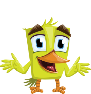 rectangular-bird-vector
