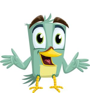 happy-green-bird