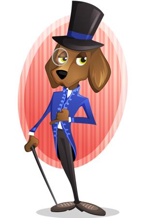 elegant-dog-vector-character