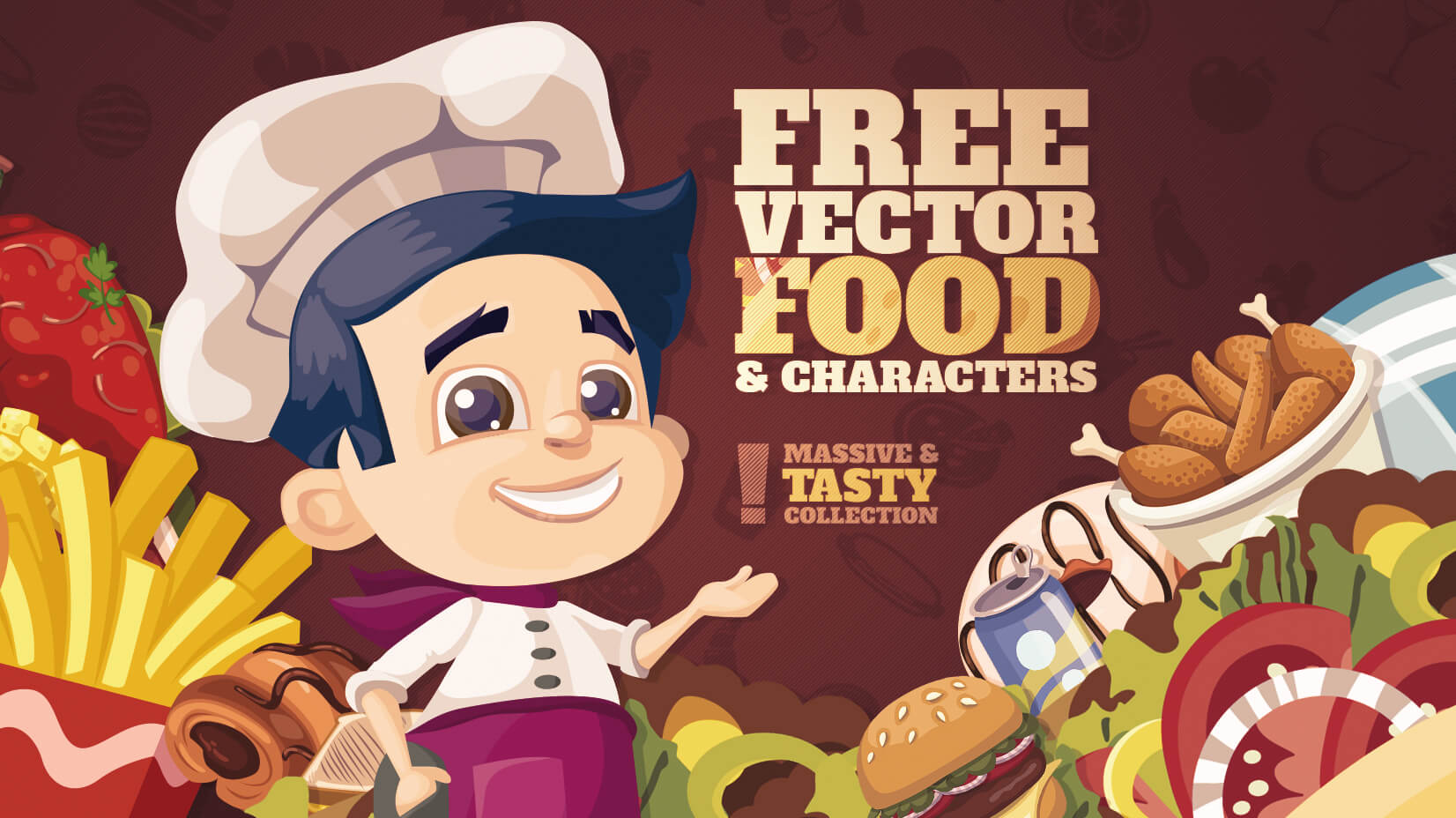 100 Free Food Vector Graphics And Characters For Tasty Projects Years Ago Ai How To Edit This Commercial Use With Here Comes A Big Plate Of Yummy Vectors Cooks Chefs Cartoon Delivery Boys Girls Logos Flat Icon Sets More