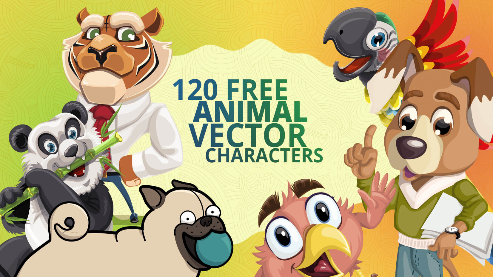 fc55d4ae78ac 120+ Free Animal Vector Characters to Perk Up Your Projects