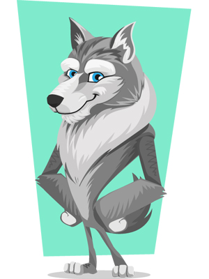 wolf-vector-cartoon-vector