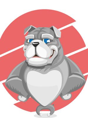 bulldog-vector-character
