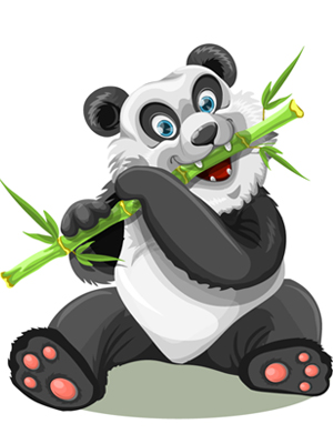 panda-eating-stick-vector