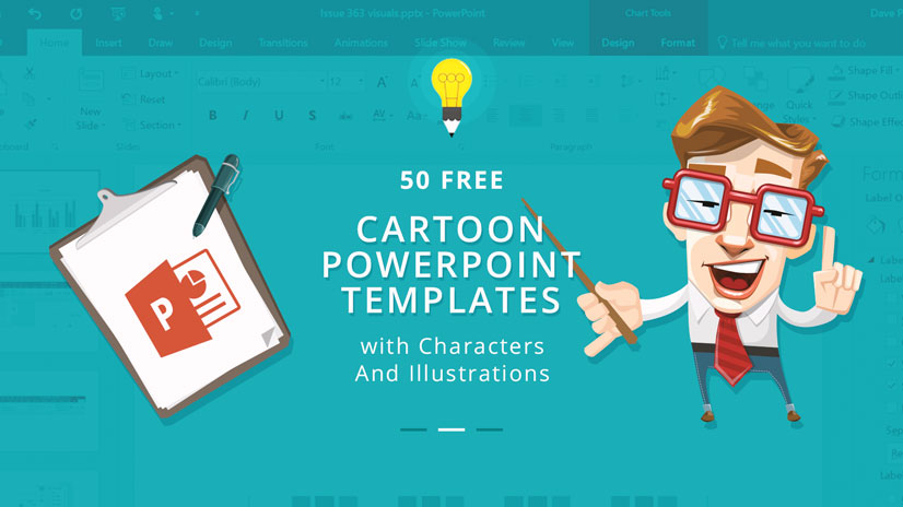 Free Cartoon PowerPoint Templates With Characters Illustrations - Awesome biology ppt template ideas