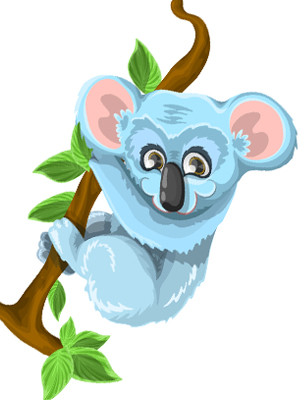 koala-hanging-on-tree