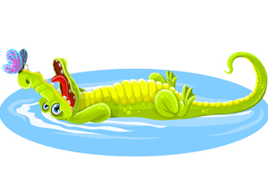 crocodile-character-with-butterfly