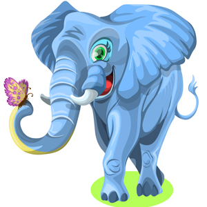 elephant-with-butterfly