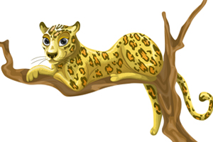 vector-leopard-on-branch