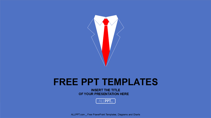 business shirt and tie free powerpoint presentation template