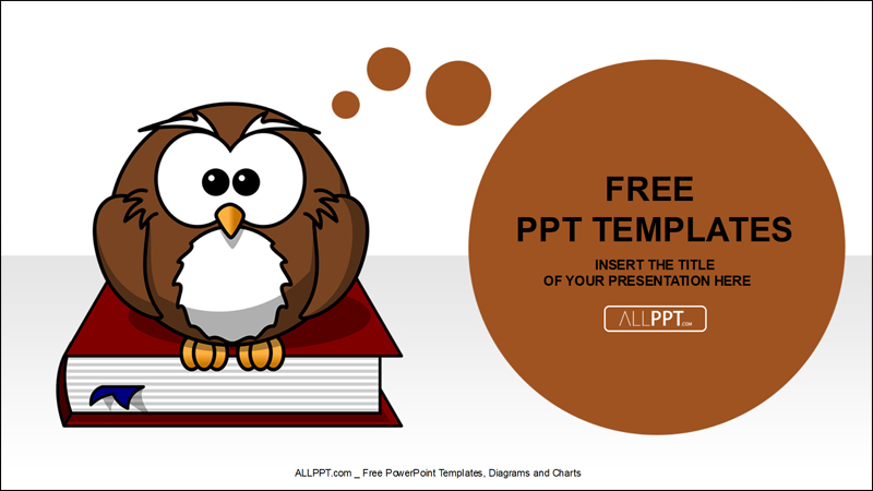 50 free cartoon powerpoint templates with characters illustrations free powerpoint template with owl character toneelgroepblik