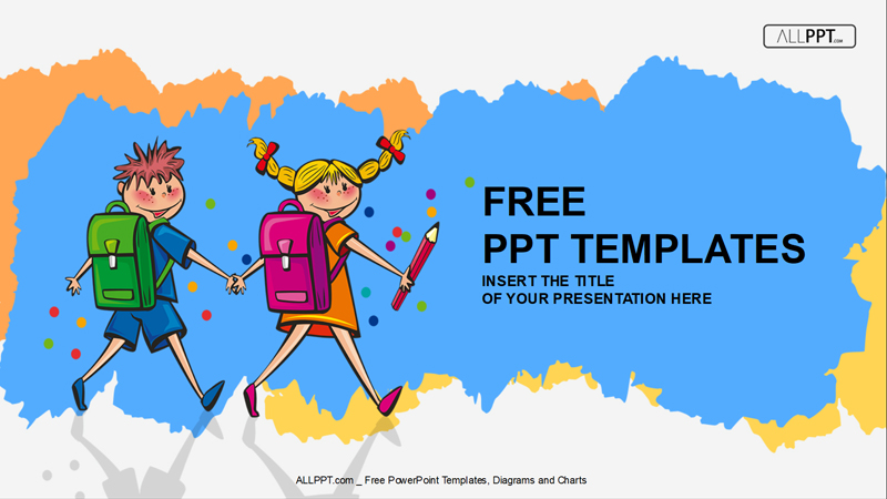 50 free cartoon powerpoint templates with characters illustrations school children powerpoint template for free toneelgroepblik Choice Image