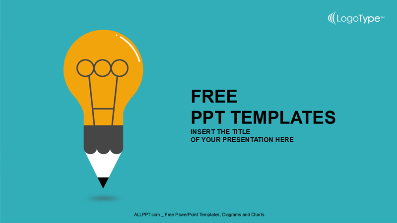 cartoon light bulb free powerpoint template