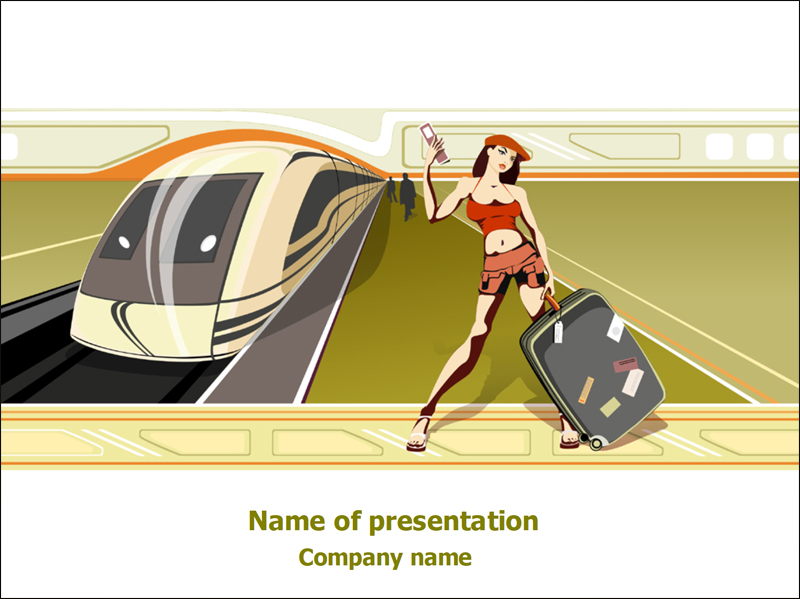 50 free cartoon powerpoint templates with characters illustrations free traveler powerpoint template toneelgroepblik Images