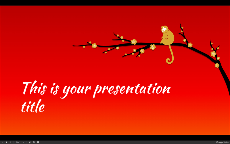 50 free cartoon powerpoint templates with characters illustrations monkey on branch free presentation template toneelgroepblik Gallery