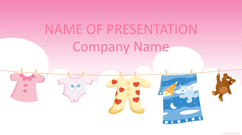 50 free cartoon powerpoint templates with characters illustrations baby clothes powerpoint template toneelgroepblik