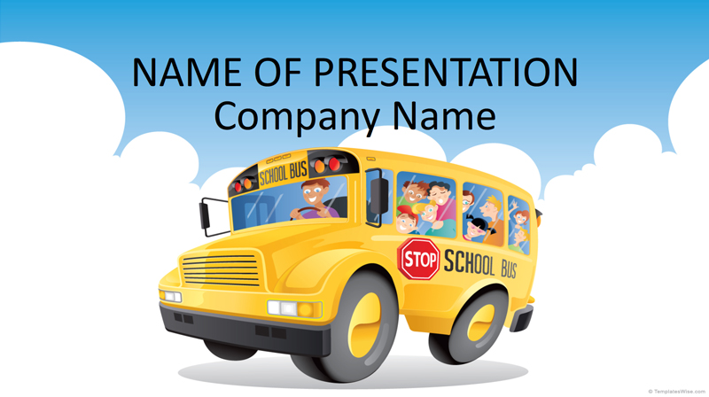 50 free cartoon powerpoint templates with characters illustrations school bus powerpoint template toneelgroepblik Image collections