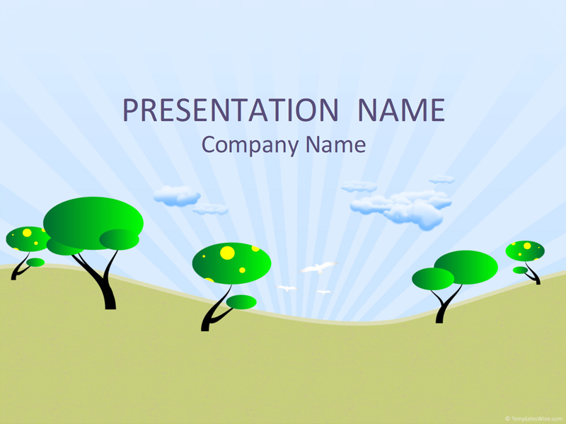 50 free cartoon powerpoint templates with characters illustrations cartoon trees powerpoint template toneelgroepblik Images