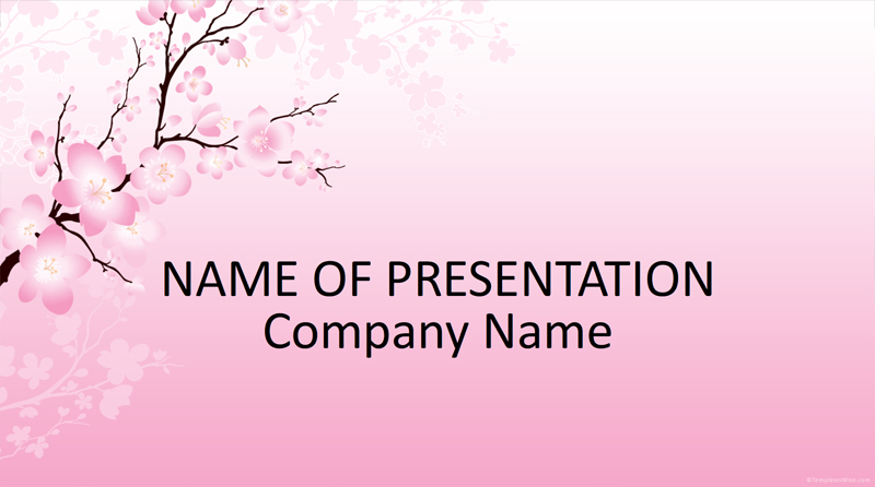 50 free cartoon powerpoint templates with characters illustrations cherry blossom free powerpoint template toneelgroepblik Images