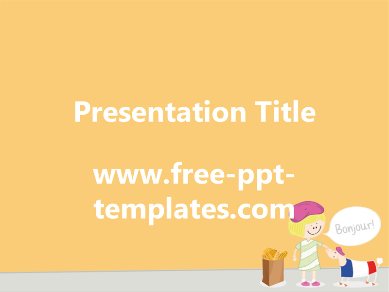 50 free cartoon powerpoint templates with characters illustrations french kid and puppy free powerpoint template toneelgroepblik Images