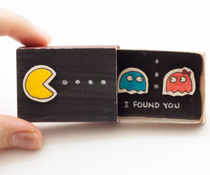pacman-match-box-love-card