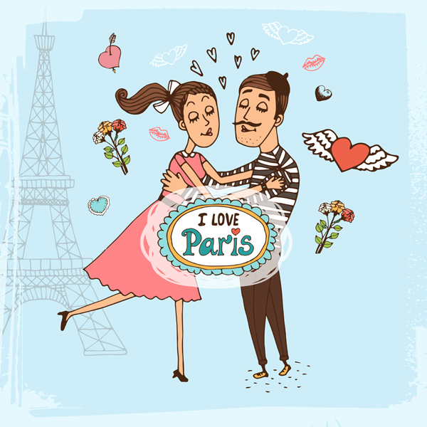 Free Vector for St. Valentine's Day Love Paris