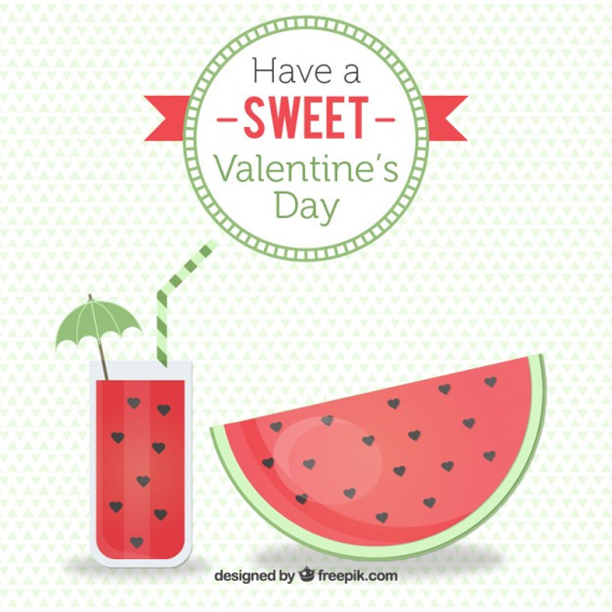 St. Valentine's Freebies watermelon