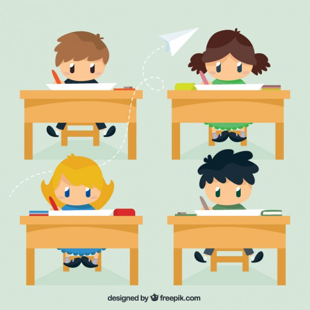 Free School Vectors: Characters, Graphic Element Sets, Icons, Patterns
