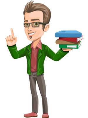 vector-man-teacher-with-books