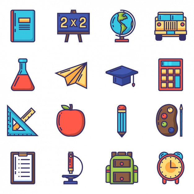 school-icons-collection