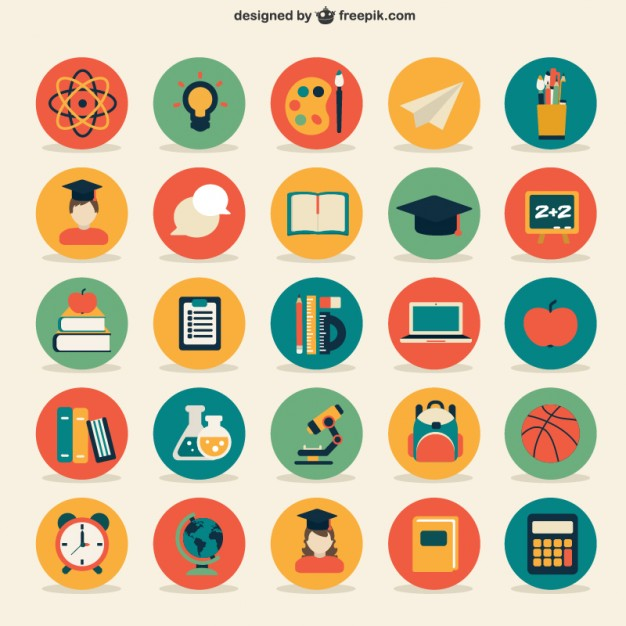 education-icons-collection