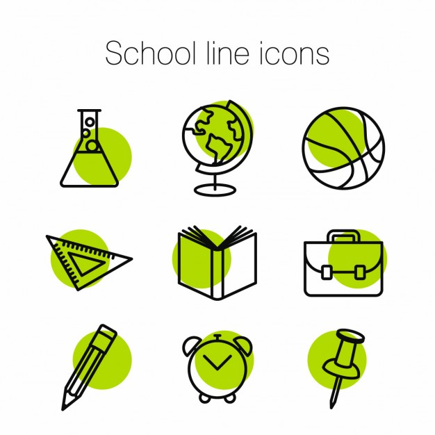 green-icons-about-school
