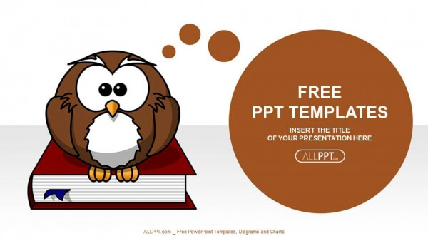 50 free cartoon powerpoint templates with characters illustrations free powerpoint template with owl character toneelgroepblik Images