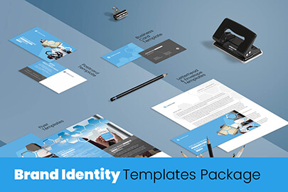 creative brand identity templates package