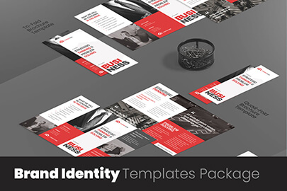 corporate brand identity templates package