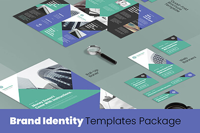 modern brand identity templates-package
