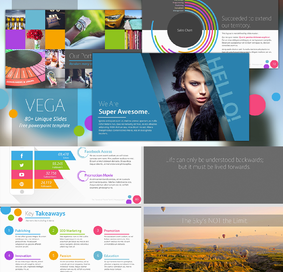 Free business powerpoint templates 10 impressive designs vega free business powerpoint templates wajeb Image collections