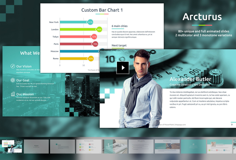 free business powerpoint templates -10 impressive designs, Modern powerpoint