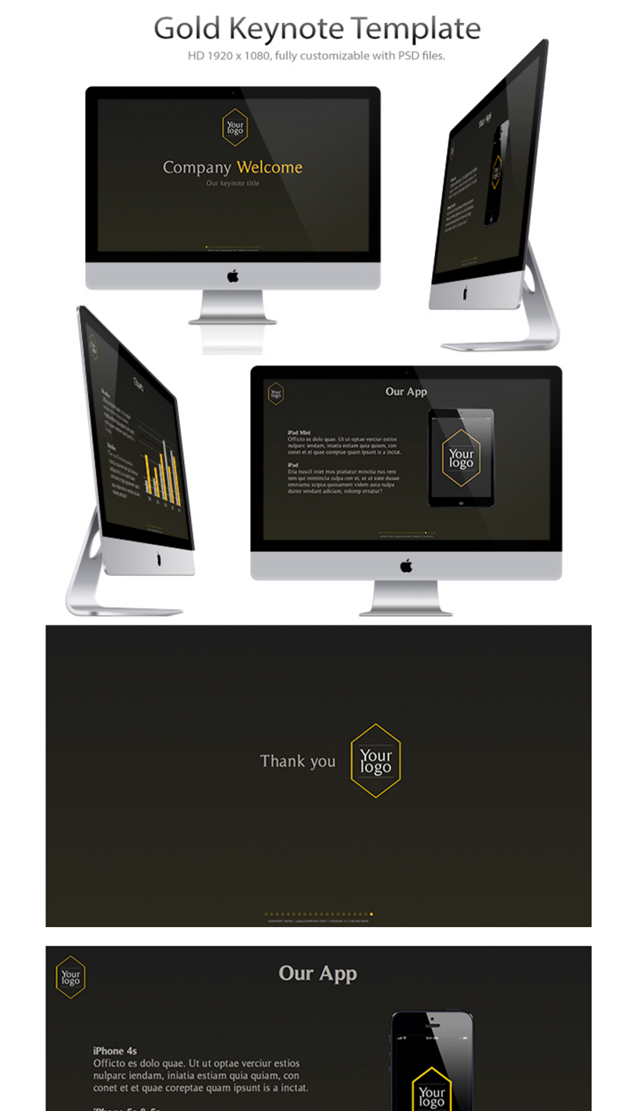 Free business powerpoint templates 10 impressive designs gold keynote free powerpoint template toneelgroepblik Image collections