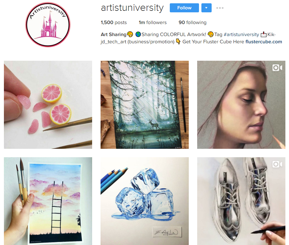artistuniversity instagram