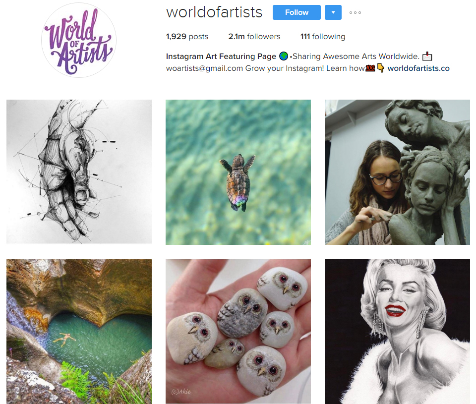 world-of-artists-instagram-profile