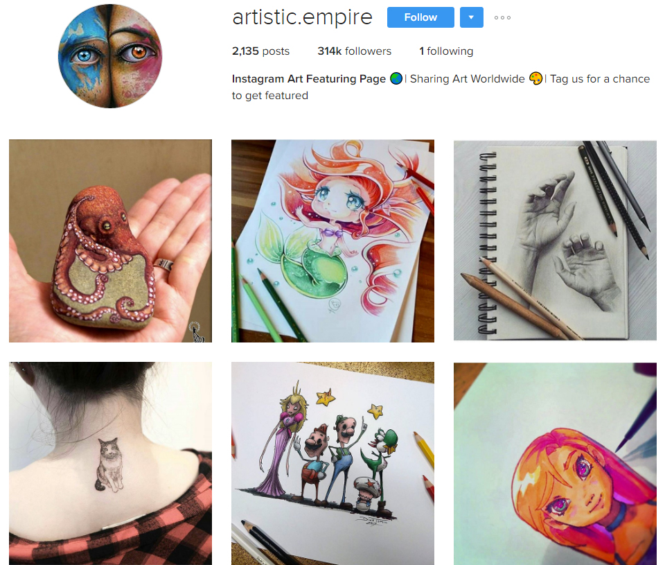 artistic-empire-instagram-profile