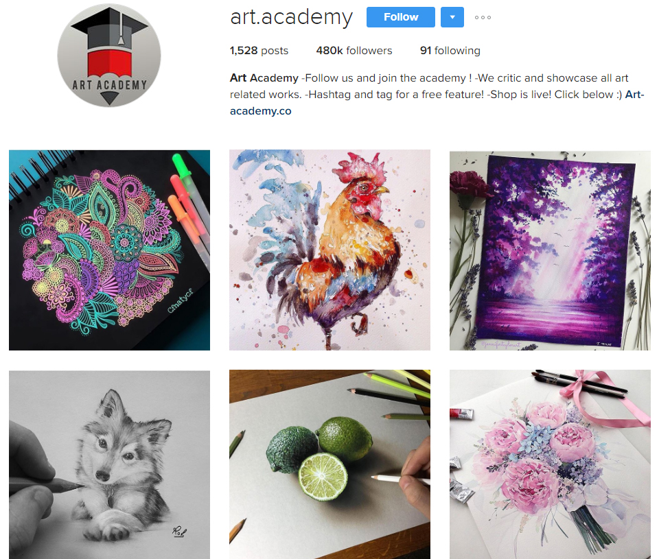 art-academy-instagram-profile