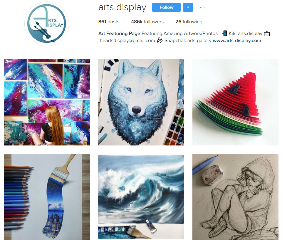 arts-display-instagram-profile