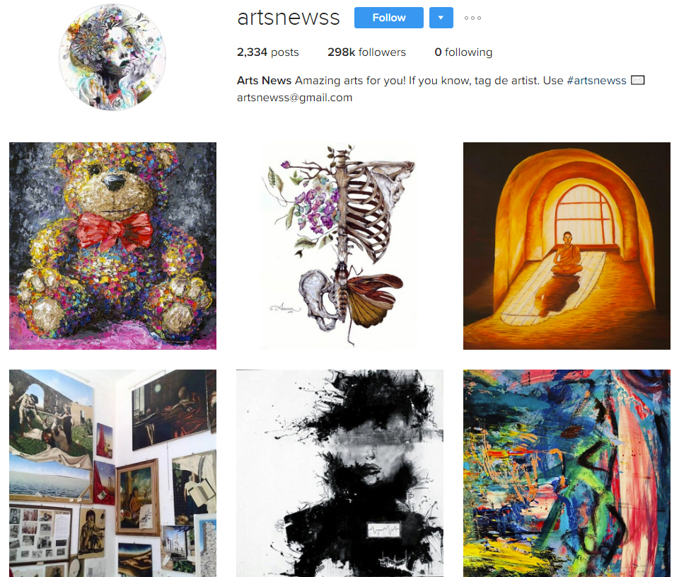 artsnewss instagram profile